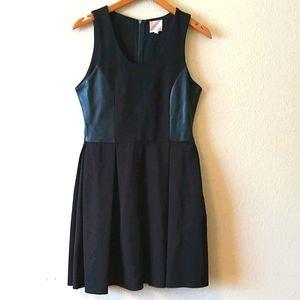 Parker leather trimmed dress